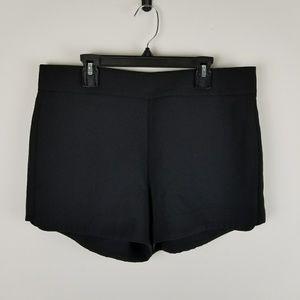 J Crew Drapey Shorts Mini Black Side Zipper Casual